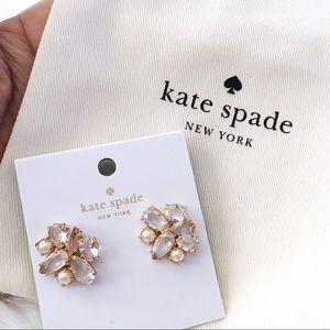 ♠️ Kate Spade Cream Multi Cluster Ear Jackets
